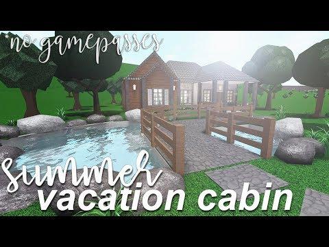 Roblox Bloxburg Summer Vacation Cabin No Gamepasses 58k Youtube