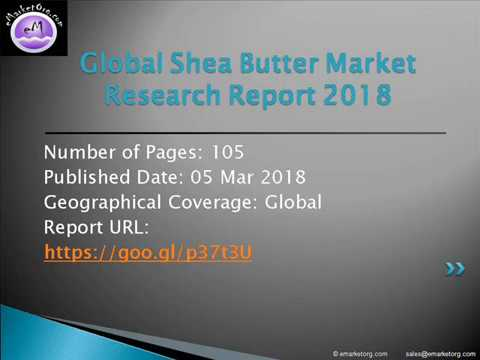 Shea Butter Market Production, Revenue, Price, Development Trend and Key Manufacturers