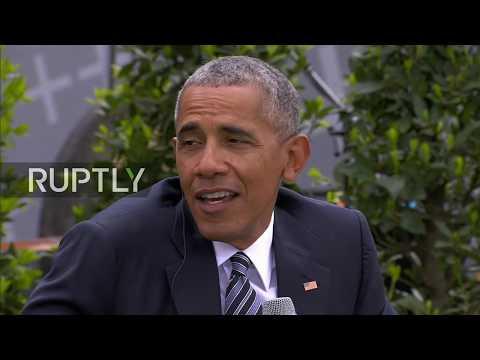 LIVE: Obama joins Merkel to speak about democracy in Berlin