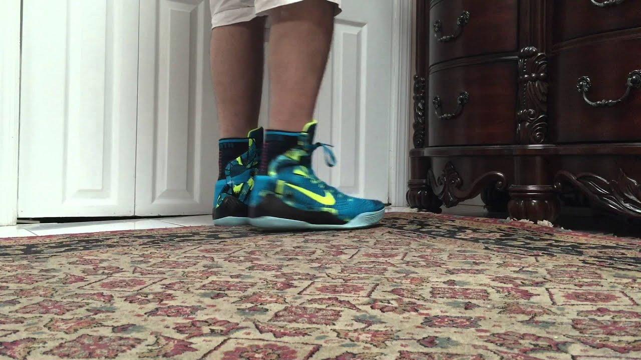 reputable site 5bf93 f67e9 Nike Kobe 9 IX Elite Perspective On Foot