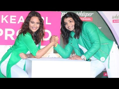 Uncut Sonakshi Sinha & Olympic Winner Sakshi Malik Launches Whisper