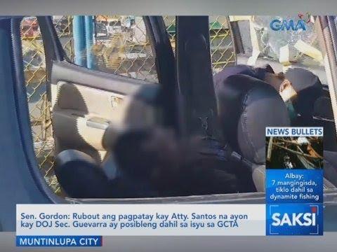 Saksi: Sen. Gordon: Rubout ang pagpatay kay Atty. Santos na ayon...