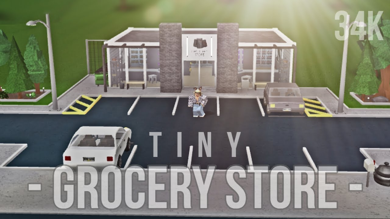 Bloxburg Tiny Grocery Store 34k Youtube