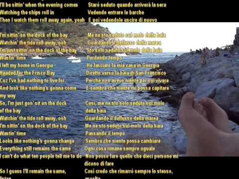 Sittin On The Dock Of The Bay - Otis Redding - lyrics eng ita