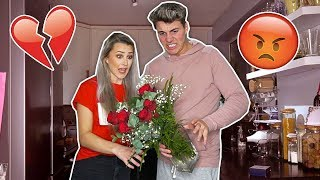 ANOTHER GUY BOUGHT ME FLOWERS PRANK ON BOYFRIEND! *VALENTINES DAY*