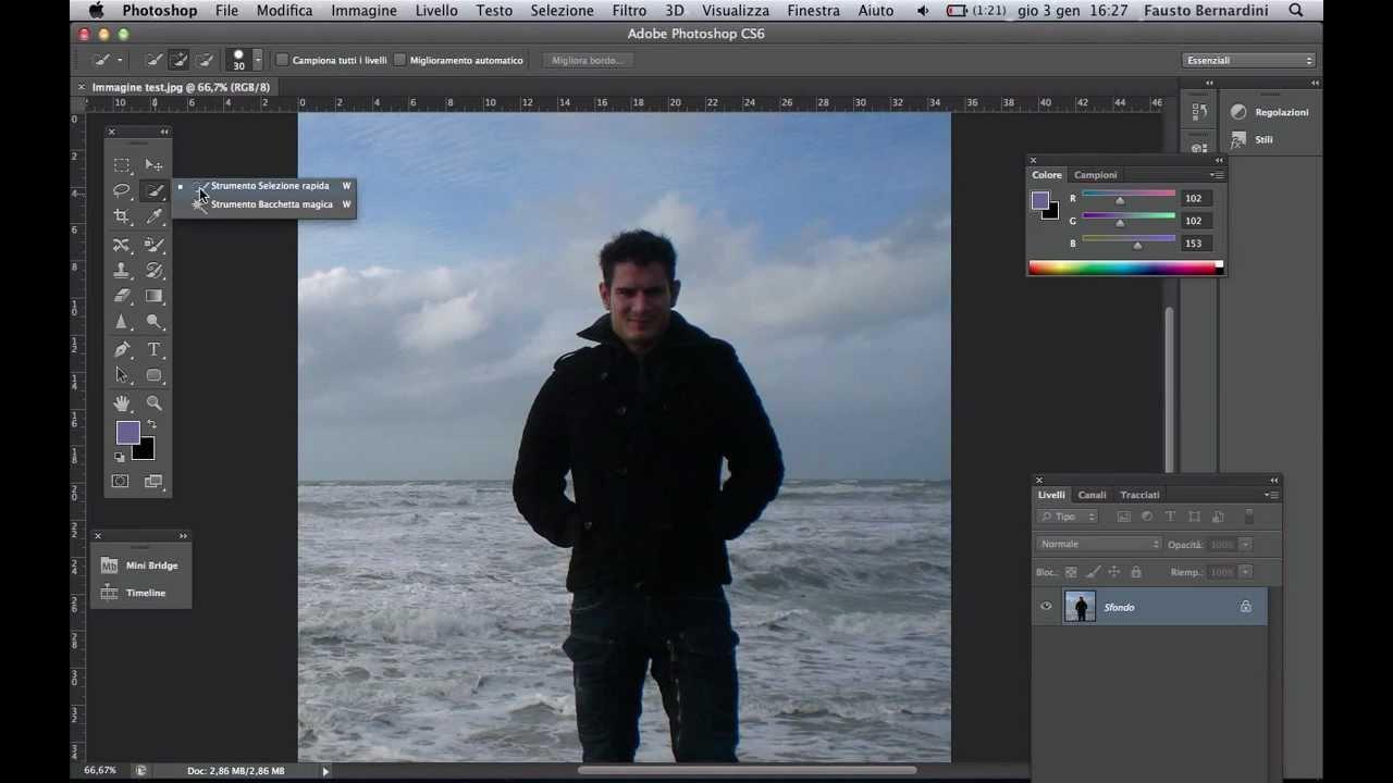 Photoshop Cs6 Scontornare E Ritagliare Una Figura Youtube