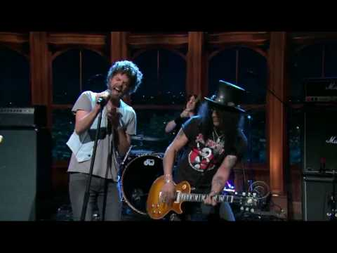 By the sword   Slash live The late late show