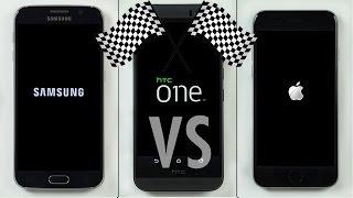 Galaxy S6 vs. HTC One M9 vs. iPhone 6 Speed Test