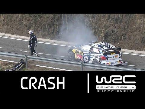 WRC - RallyRACC - Rally De España 2015: CRASH Sébastien Ogier
