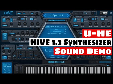 U-HE HIVE 1.2 Synthesizer Wavetable Update Sound Demo   SYNTH ANATOMY