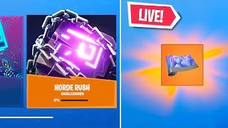 *NEW* FORTNITE HORDE RUSH EVENT FREE REWARD.. FIEND WRAP GAMEPLAY