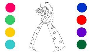 Princess Coloring || coloring for kids ||