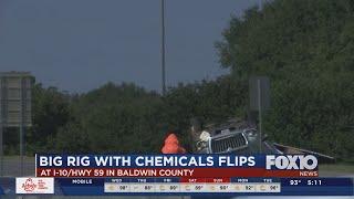 HazMat accident on I-10 ramp in Baldwin County