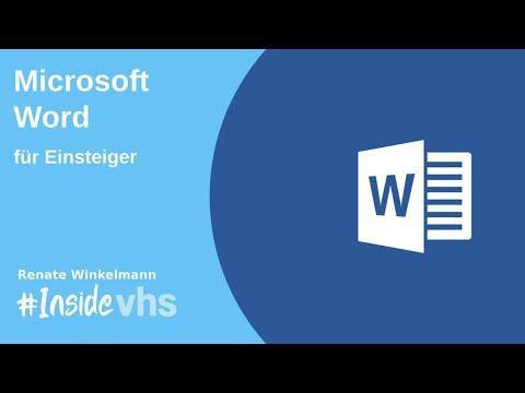 #insidevhs - Word Für Einsteiger Mit Renate Winkelmann
