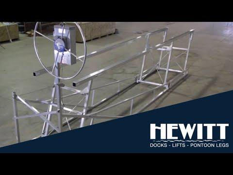 Hewitt 2400 Narrow Pontoon Lift Assembly