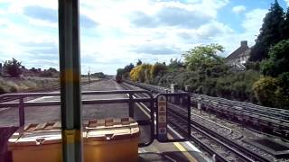 Trains at Dagenham Heathway station 27/6/15