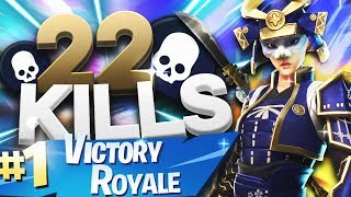 22 KILLS WITH THE NEW HIME SKIN! (FORTNITE BATTLE ROYALE GAMEPLAY)