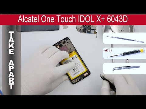 How to disassemble 📱 Alcatel Idol X 6040D (TCL S950), Take Apart, Tutorial