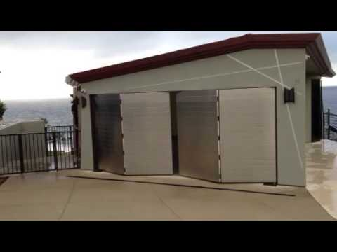 GT5000S Automatic Bi-fold Garage Door - YouTube on glass garage doors, accordion garage doors, commercial garage doors, french garage doors, hardware garage doors, sliding garage doors, cabinet garage doors, mirror garage doors, metal garage doors, how much are garage doors, fire garage doors, wood garage doors, overhead garage doors, transom garage doors, fold out garage doors, folding doors, fiberglass garage doors, hinged garage doors, sectional garage doors, awning garage doors,