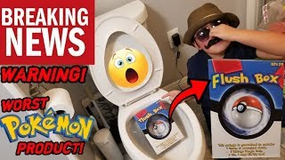 FLUSHING THE WORST POKEMON CARDS PRODUCT DOWN THE TOILET!! OPENING THE PLUSH BOX! WARNING...IT LIED