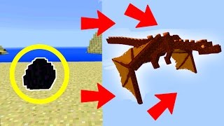 how to hatch the red dragon on minecraft pocket edition