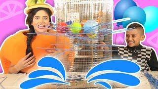 فوزي موزي وتوتي | فقرة المندلينا | لعبة البالونات  | Balloons Game