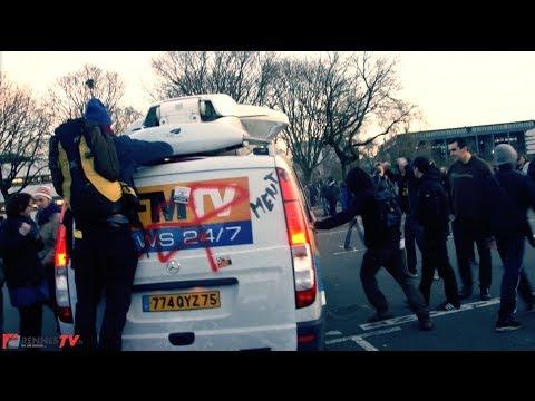 Départ de manifestation mouvementé pour BFMTV à Nantes