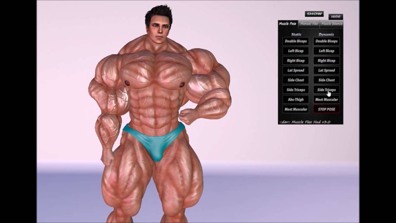 Muscle growth girl game