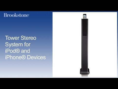 Tower Stereo System For IPod® And IPhone® Devices