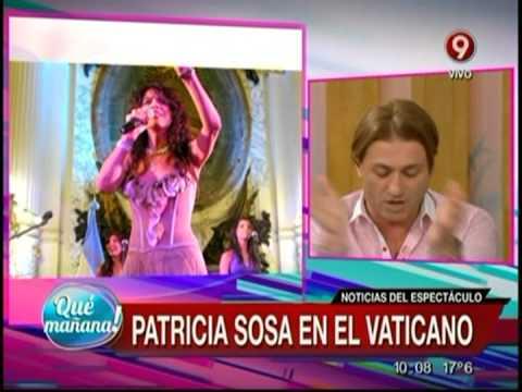 Noticias del espect culo patricia sosa en el vaticano for Noticias actuales del espectaculo