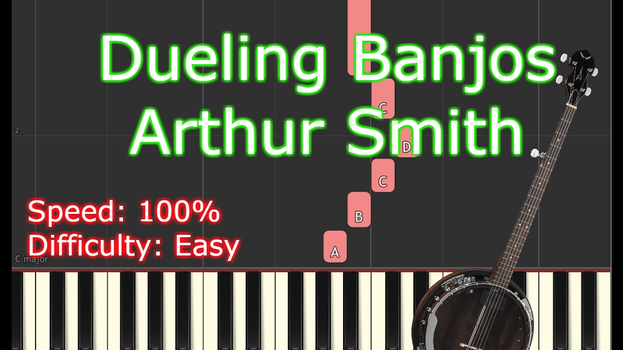 [How to play] Dueling Banjos   Arthur Smith Piano Tutorial Synthesia