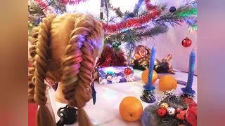 Обратная рыбья коса 💆♀️ Как заплести косу видеоурок / Лайфхак❗ Объемные Косы💯 👆