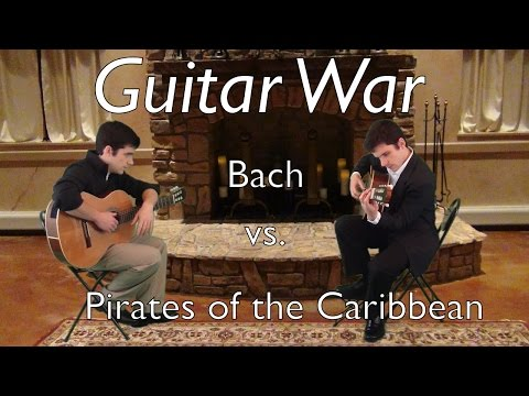 guitarwar: bach vs. pirates of the caribbean || vince carrola