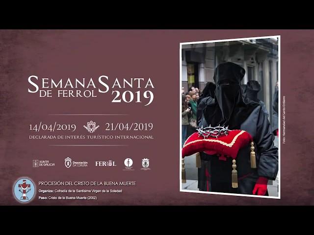 Cofradía de la Soledad Ferrol - Procesión Martes Santo 2019