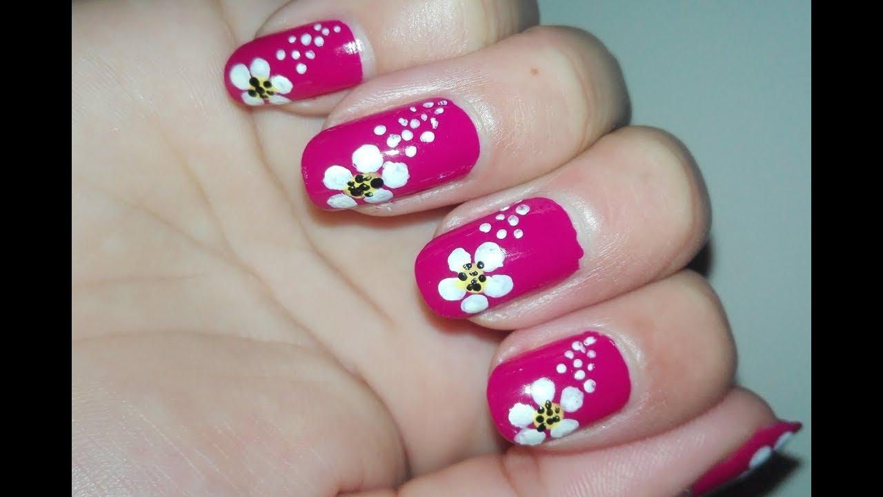 Floral Nail Art Tutorial For Spring And Summer No Tools Nail Art