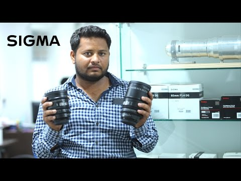 Hands-on with Sigma Cinema Prime and Zoom Lenses hindi