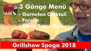"3 Gang Menü vom Grill -- Grillshow Spoga 2018 Andreas Rummel. Burn Out Kitchen"" #rummelgrilltv"