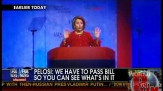 "Pelosi: ""We Have to Pass the Bill So That You Can Find Out What Is In It"""