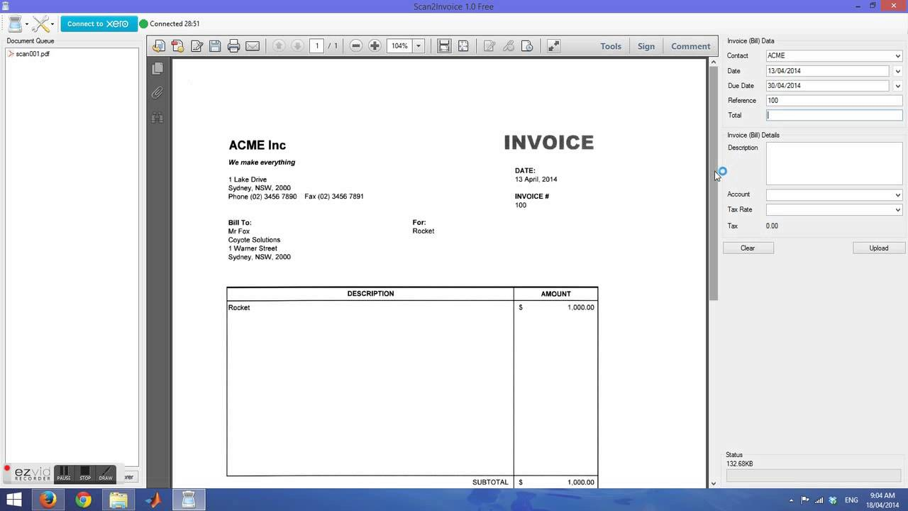 scan invoice directly into xero - scan2invoice - youtube, Invoice templates