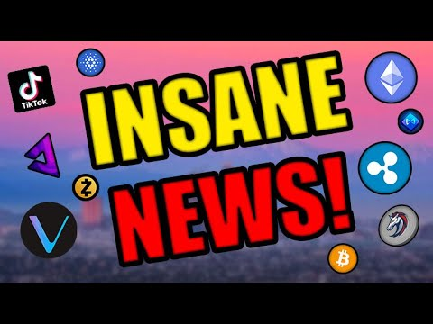 TIKTOK ADOPTS CRYPTO! THE CRYPTOCURRENCY MARKET IS ABOUT TO GET INSANE! Cardano, Vechain, & XRP News