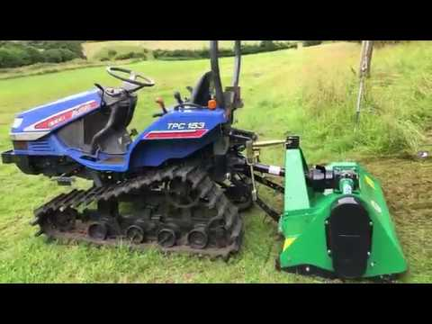 Repeat ISEKI TPC153 Compact Track Tractor and a Flail Mower by