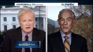 Ron Paul slams Chris Mathews on hardball 05 13 2011