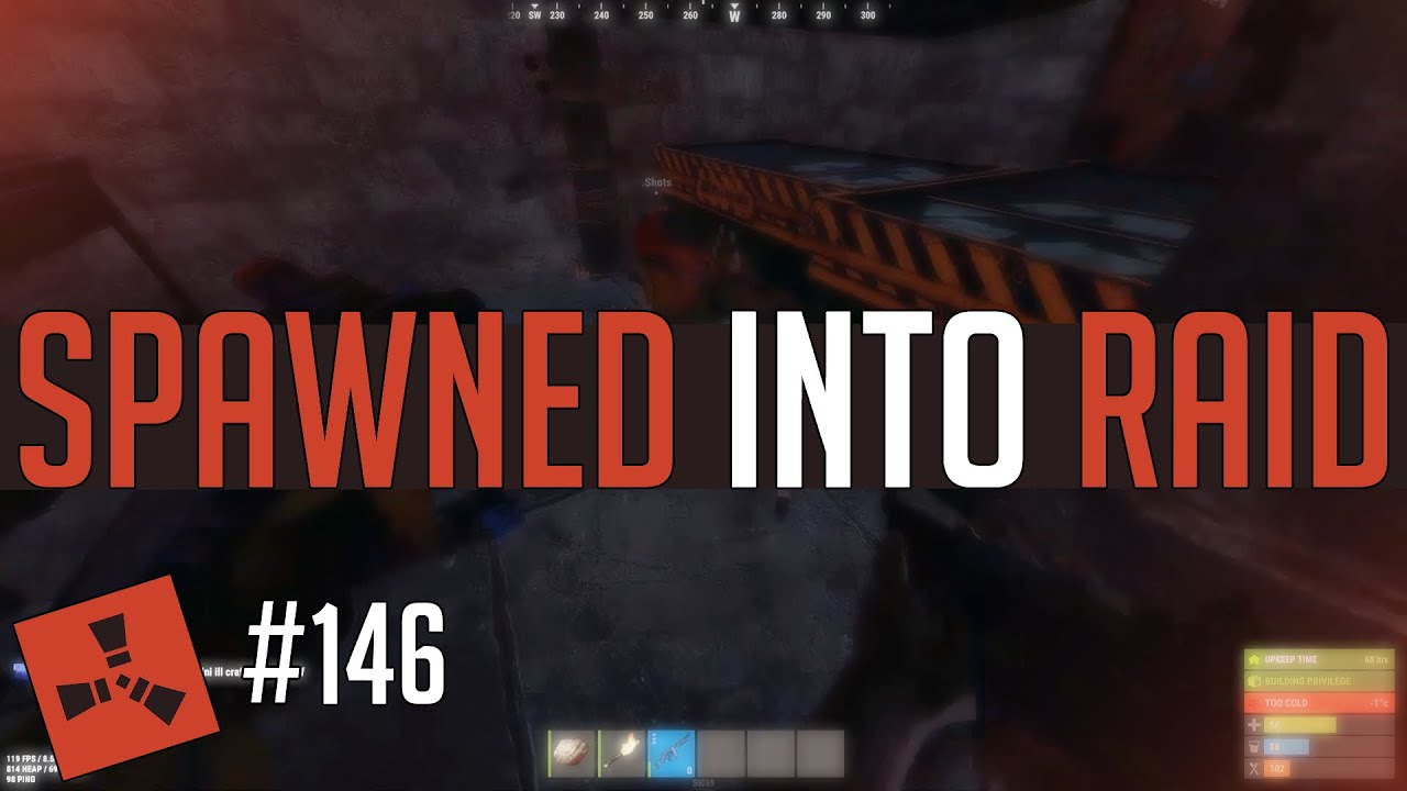 He SPAWNED on TOP OF THE RAIDERS! (Rust Highlights #146)
