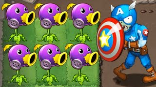 Bio Peashooter Vs Captain America Zombie - Plants vs Zombies Mods