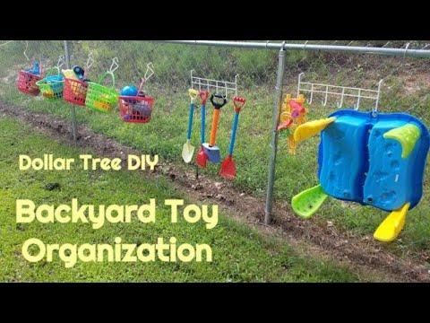 Outdoor Toy Organization | Dollar Tree DIY | EASY