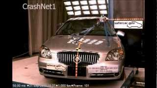Buick Lucerne | 2011 | Pole Crash Test | NHTSA High Speed Camera | CrashNet1