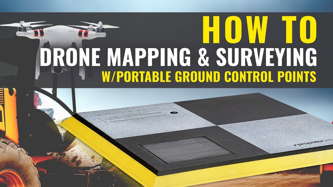 DRONE MAPPING & SURVEYING - How to use Portable Ground Control Points