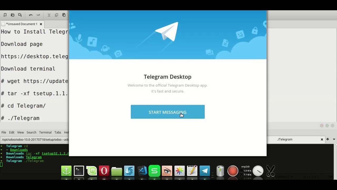Install Telegram Messenger Application on Linux