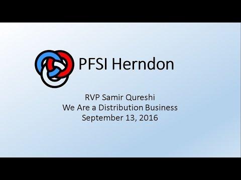 RVP Samir Qureshi - We Are a Distribution Business - September 13, 2016