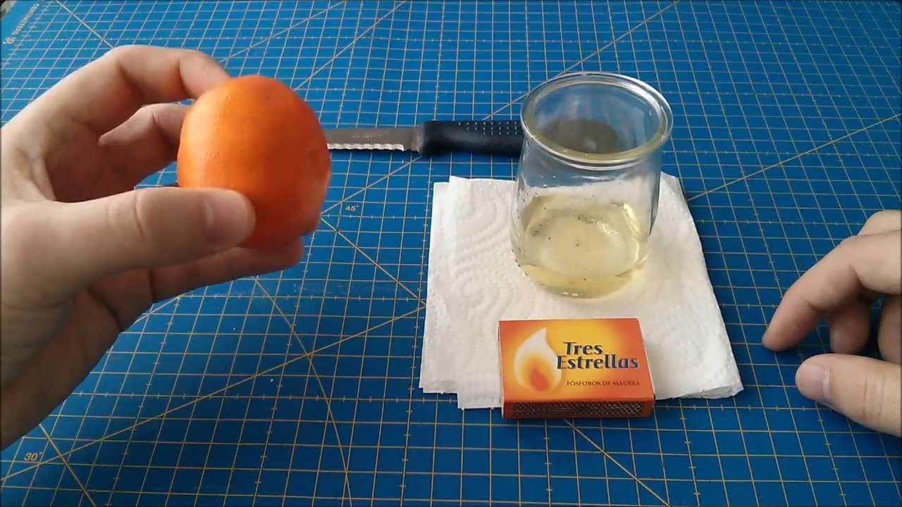 Cmo hacer una lmpara de aceite con una naranja  YouTube